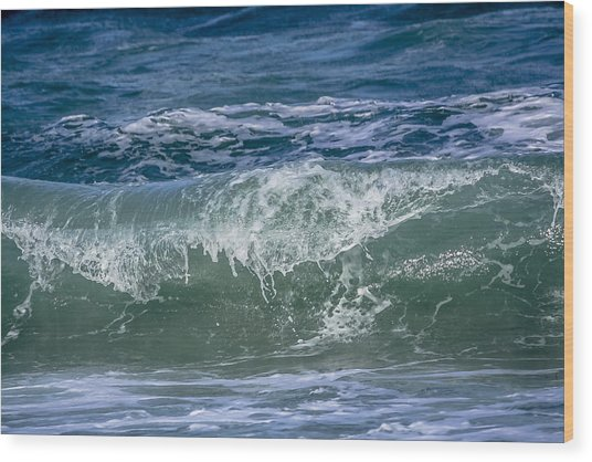 Waves Wood Print by Andrea  OConnell