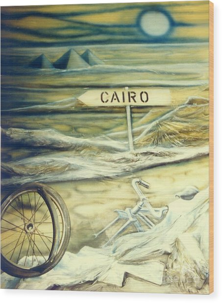 Way To Cairo Wood Print