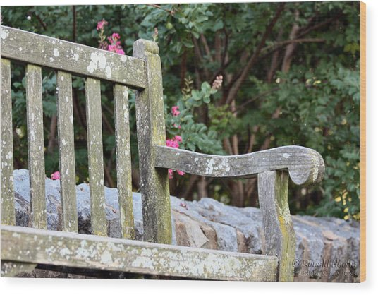 Weathered Bench Wood Print