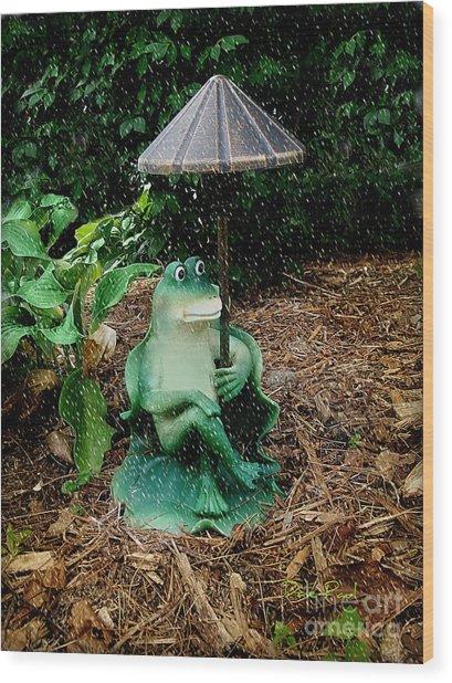 Weird Frog Wood Print