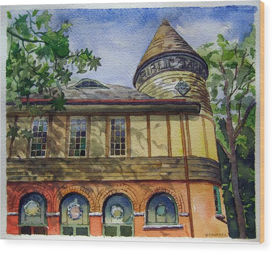 West Chester Library Wood Print by Michael Stancato