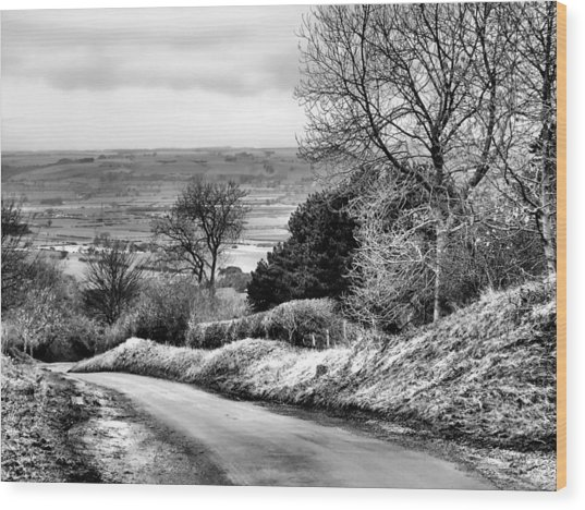 West Heslerton Bw Wood Print