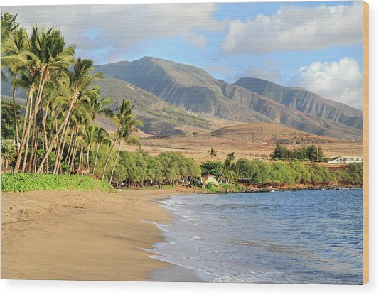 West  Maui Wood Print by Pierre Leclerc Photography