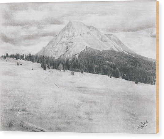 West Spanish Peak Wood Print