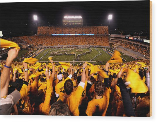 West Virginia Milan Puskar Stadium Wood Print by Lance King