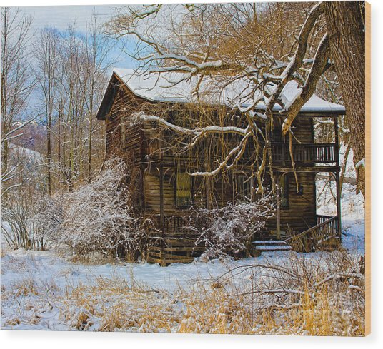 West Virginia Winter Wood Print