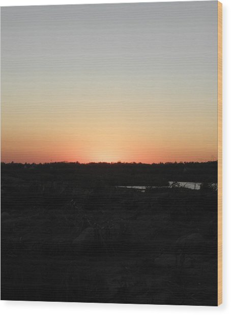 Westerly Ri Sunset Wood Print by Kim Galluzzo Wozniak