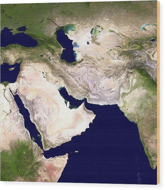 Western Asia, Satellite Image Wood Print by Nasa