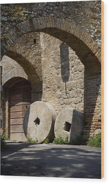 Wheeled Arches Wood Print