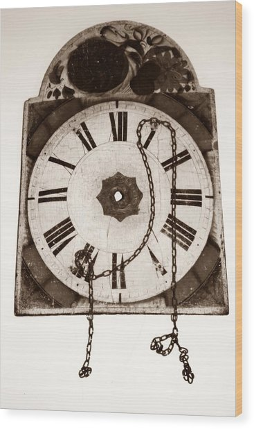 When Time Stopped Wood Print by Chiselev Alexandru