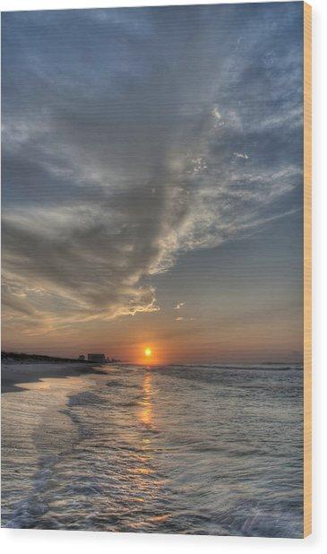 Where The Heavens Meet The Sea Wood Print