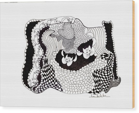 Where'd They Go? Wood Print by Lou Belcher