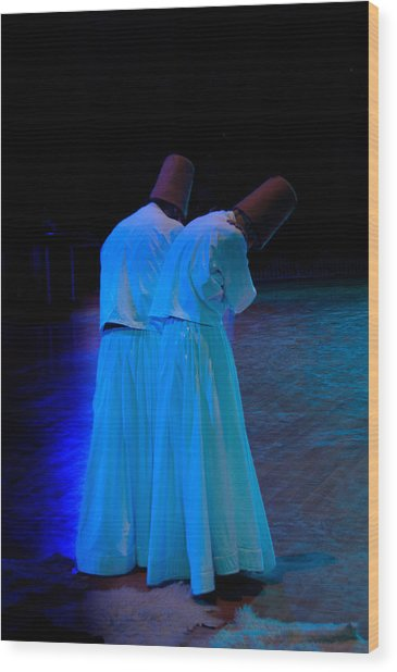 Whirling Dervish - 2 Wood Print by Okan YILMAZ