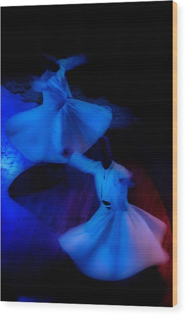 Whirling Dervish - 3 Wood Print