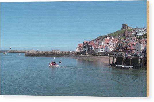 Whitby Postcard Wood Print