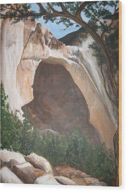 White Arch Wood Print