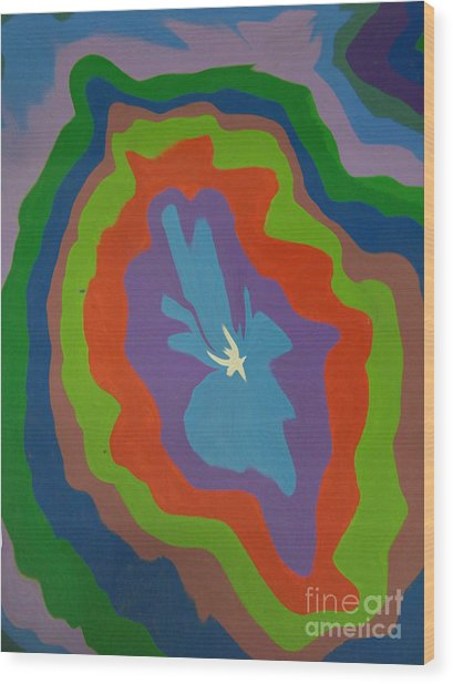 White Dove Stuck In Color Wood Print by Robert Haigh