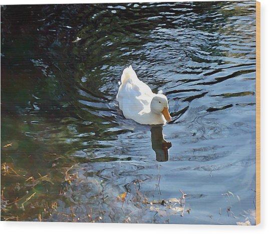 White Duck Wood Print