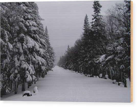 Whiteface Highway Wood Print