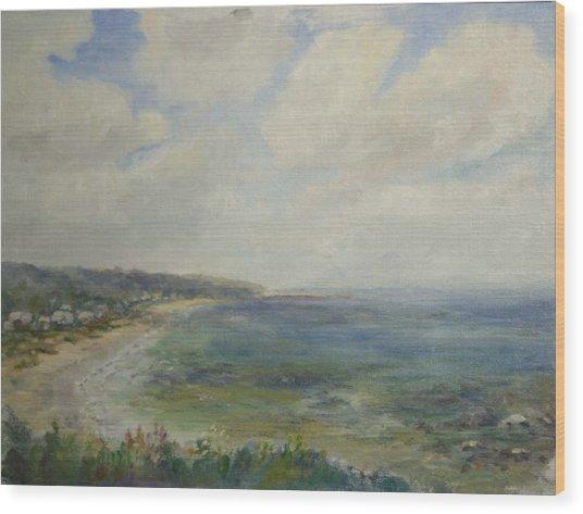 Whitehorse Beach Sunlight Wood Print