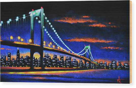 Whitestone Bridge 2 Sold Wood Print