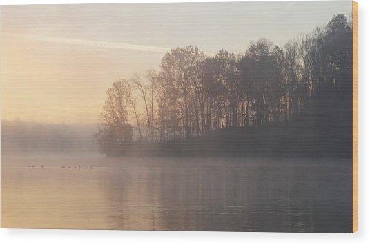 Whitewater Mist Wood Print