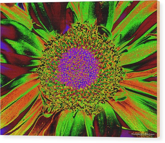Wildflower Tutu Wood Print