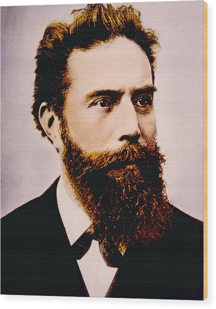 Wilhelm Conrad Rontgen 1845-1923 Wood Print by Everett