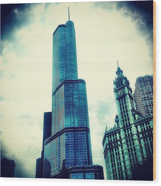 Willis Tower In #chicago Wood Print