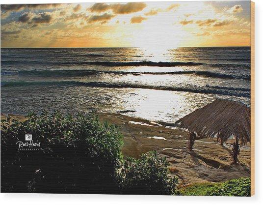 Windansea At Sunset Wood Print