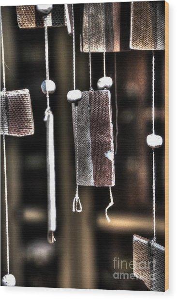 Windbreak Harp 2 Wood Print by Elena Mussi