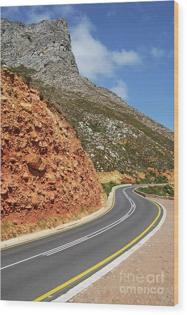 Winding Costal Road Between Gordon's Bay And Betty's Bay Wood Print by Sami Sarkis