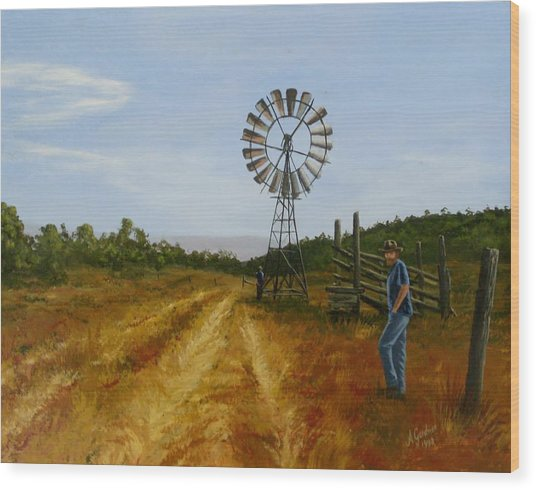 Windmill At Mandagery Wood Print