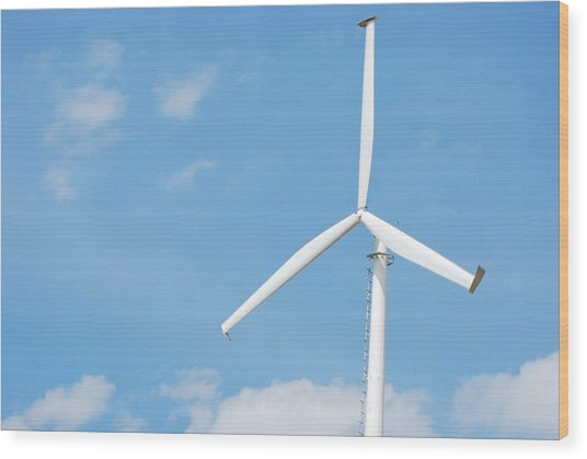 Windmill Wood Print by Kim French