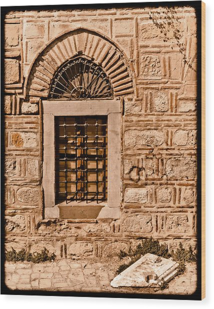 Athens, Greece - Window Break Wood Print