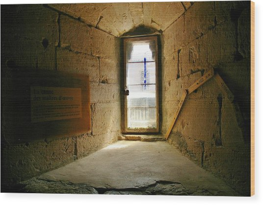 Window In The Abbey Of Senanque Wood Print by Christine Burdine