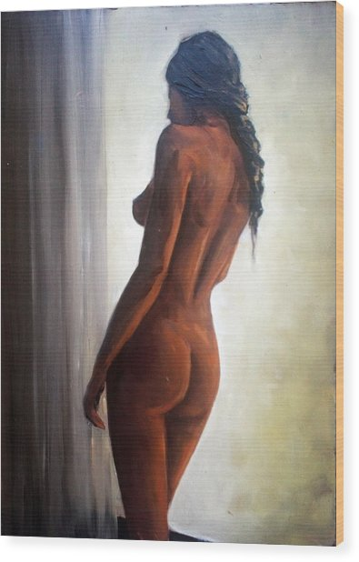 Window Light Wood Print