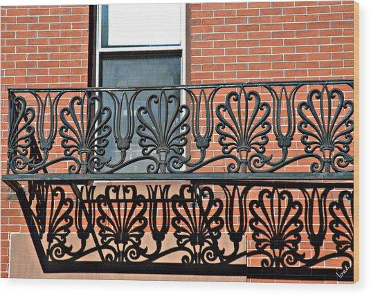 Window Scrolls Wood Print by Bruce Carpenter