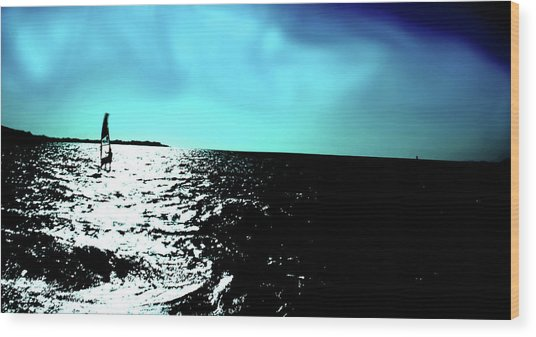 Windsurfing Greece Wood Print