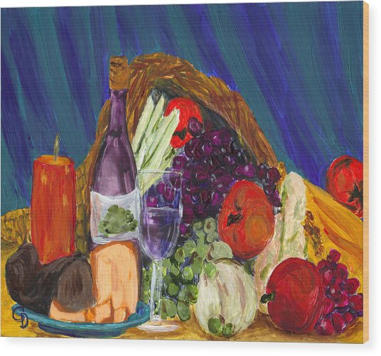 Wine Cornucopia Wood Print