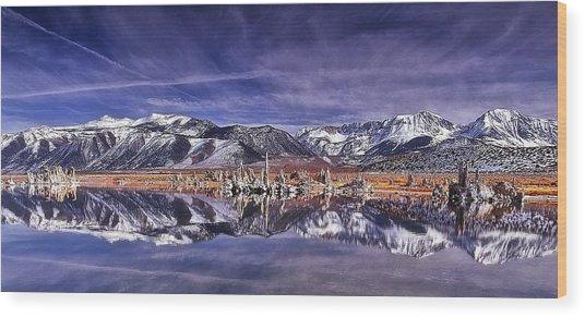 Winter Around The Lake Wood Print