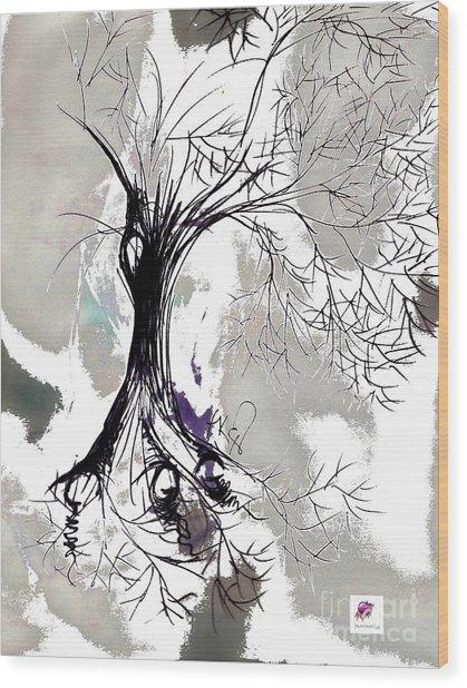 Winter Greenlake Tree Wood Print