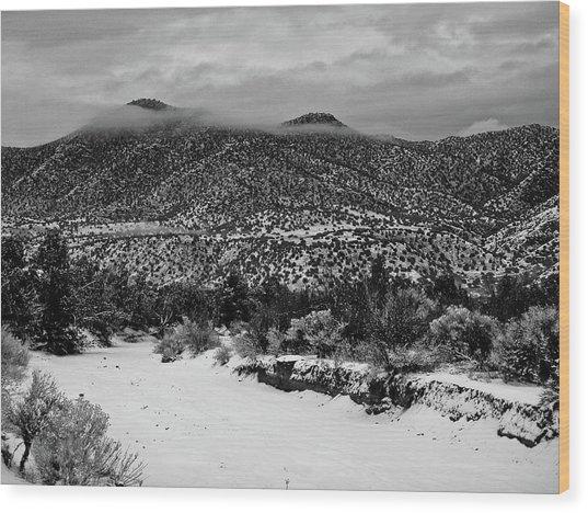 Winter Hills Wood Print