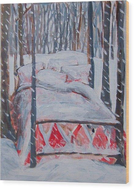 Winter Hybernation Wood Print