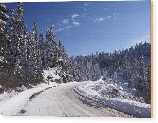 Winter On Chinnook Pass Wood Print