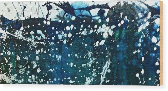 Winter Tempest Wood Print