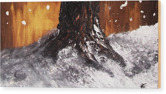 Wintertree Trunk Wood Print