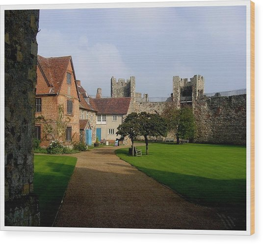Within The Castle Walls Wood Print by Frank Wickham