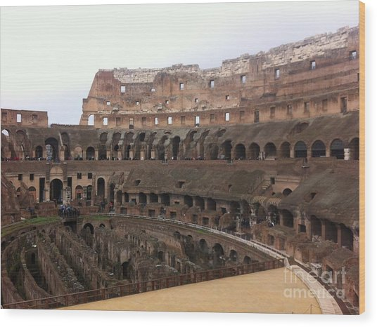 Within The Colosseum Wood Print by Richard Chapman