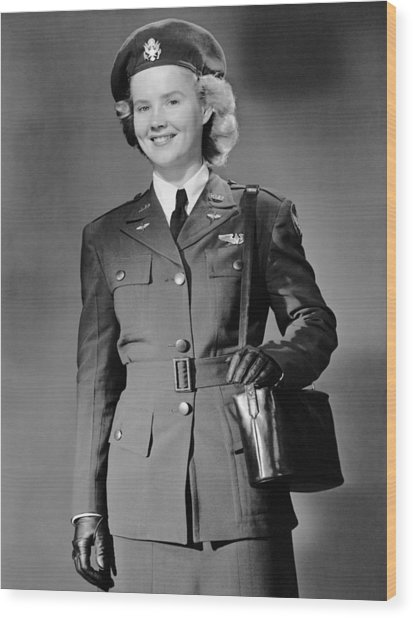 Woman In Uniform Wood Print by George Marks
